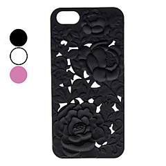Carve Flower Patterns Hard Case for iPhone 5/5S (Assorted Colors)