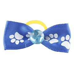 La pata del perro Patrón de goma Tiny Bow Cinta de cabeza para Perros Gatos (colores surtidos)