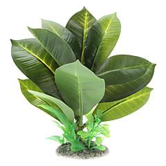 Plastic Broad Leaf Style Water Plants Decoration Ornament for Aquarium