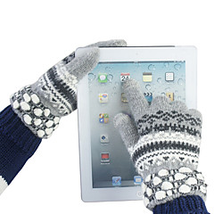 Girl's Colorful Design Woolen Touch Gloves(Assorted Color)