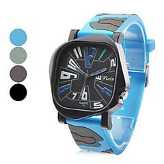 Часы мужские, аналоговые, кварцевые с резиновым ремешком (цвета в ассортименте)
