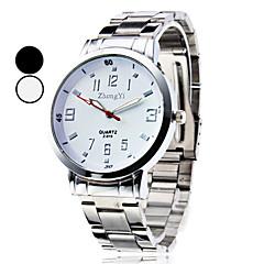 Hombre Reloj de Vestir Reloj de Moda Reloj de Pulsera Cuarzo Aleación Banda Plata