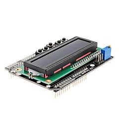 Pelindung Keypad LCD 1602 Untuk Arduino Putih dengan Lampu Skrin Biru