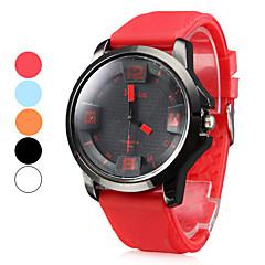 Mannen Silicone Analoog Quartz Wrist Watch (verschillende kleuren)