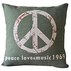 vrede liefde katoen / linnen decoratieve kussensloop