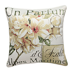 Pastoral Lily Print Decorative Pillow Cover