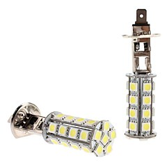 H1 5W 30x5050 SMD witte LED lamp voor in de auto Koplamp Mistlamp (12V, 2-pack)