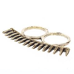 Z&X®  Linking Rivet Double Finger Ring