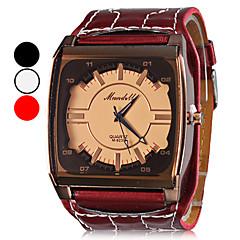 Damen PU Quartz Analog-Armbanduhr (verschiedene Farben)