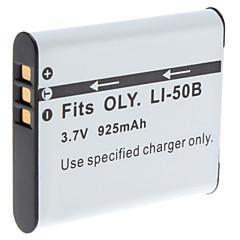 Digital Video Accu Vervang Olympus LI-50B voor μSeries en meer (3,7 V, 925 mAh)