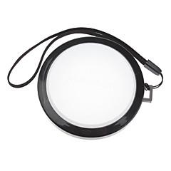 Mennon 67mm Caméra Blanc Couverture Cap Solde objectif avec dragonne (noir et blanc)