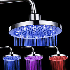 8-inch 12-LED Round Ceiling Shower Head (Assorted Colors)
