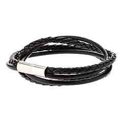 Double-skin Leather Rope Loopy Bracelet Jewelry Christmas Gifts