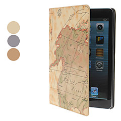 Map Pattern PU Leather Case w/ Stand for iPad mini 3, iPad mini 2, iPad mini (Assorted Colors)