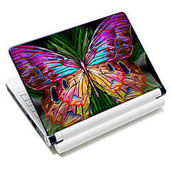 """Colorful Butterfly"" Pattern Laptop Notebook Cover schützende Haut Aufkleber für 10 ""/ 15"" Laptop 18342"