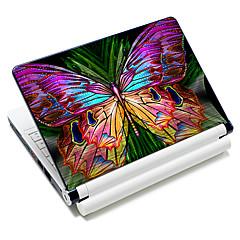 """Colorful Butterfly"" Pattern Laptop Notebook Cover schützende Haut Aufkleber für 10 ""/ 15"" Laptop 18342"