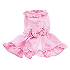Bowknot del estilo romántico con vestidos de noche del collar para perros (XS-XL)