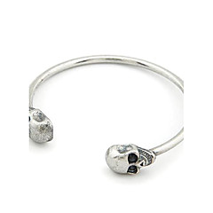 Skull Antique Silver Vintage Bracelet (Assorted Color)
