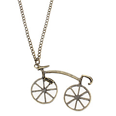 Bike Shaped Antique Alloy Necklace