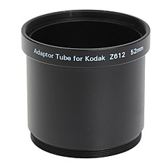 52mm Lens og Filter Adapter Tube til Kodak Z612/Z712/Z812 Black