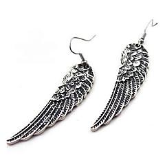 Kolczyki wiszące Stop Skrzydła / Feather Silver Biżuteria Na Impreza