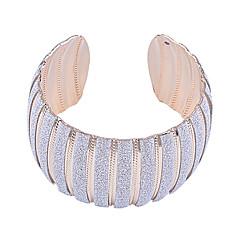 European Style  Fashion Shining Powder Arc-Shaped Cuff Bracelet