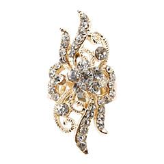Flower Shaped Diamond Adjustable Ring