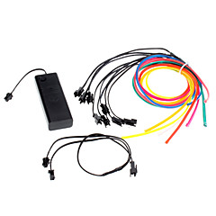 3 Meter Flexible Car Decorative Neon Light 4mm EL Wire Rope with Battery Power Supply