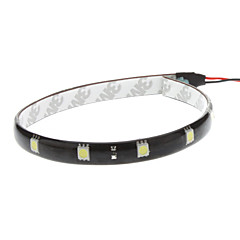 30cm 2,5 W 12x5050SMD hvid LED Strip Light til Car Instrument / License Plate Lamp (12V)