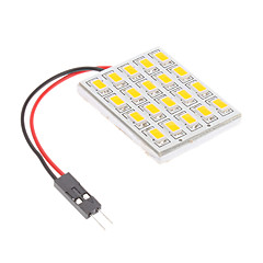 T10/BA9S/Festoon 4.5W 20x5730SMD Warm White Light LED pære til bil Reading Lamp (12V)
