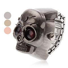 Unisex Red Eyes Style Skull Alloy Analog Quartz Watch Ring (różne kolory)