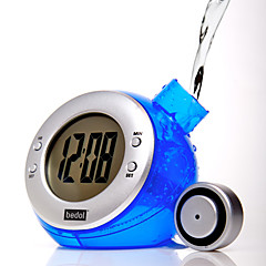Eco Green Water Powered Digital Clock Calendar (Random Color)
