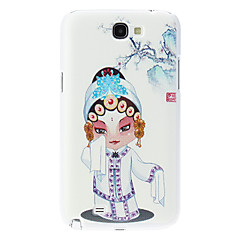Opera Nainen Pattern Hard Case for Samsung Galaxy Note 2 N7100