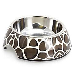 Macadam modello Melamina Shell Pet acciaio inox Ciotola per Cani Gatti (S-XL)
