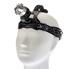 Headlamps LED 3 Mode 1000 Lumens Cree XM-L T6 18650 Camping/Hiking/Caving / Cycling / Hunting - Others , Black Aluminum alloy