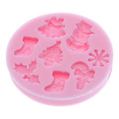 3D Christmas Theme Silicone Cookie Biscuit Mold