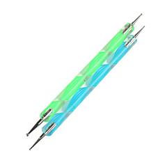 2st Öronmärkningar Verktyg uppsättning för Marbleizing negl konst verktyg (slumpvis färg)