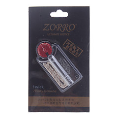 ZORRO Paq.7 Flints authentique avec Wick