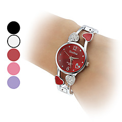 Women's Quartz Analog Heart Style Hollow Alloy Band Bracelet Watch (Assorted Colors) Cool Watches Unique Watches Fashion Watch
