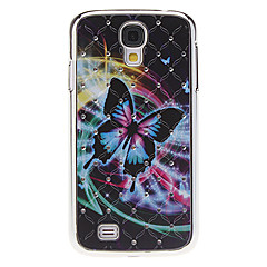 Exquisite Butterfly Pattern Hard Case with Rhinestone for Samsung Galaxy S4 I9500
