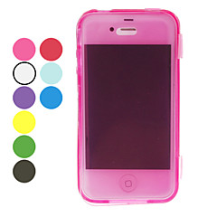 Solid Color TPU Full Body Case for iPhone 4/4S (Assorted Colors)
