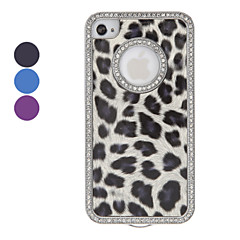 Diamond Kehys Leopard Print Hard Case for iPhone 4/4S (eri värejä)