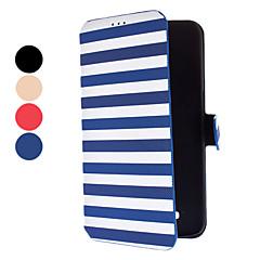 For Samsung Galaxy etui Kortholder / Med stativ / Flip Etui Heldækkende Etui Linjeret / bølget Kunstlæder Samsung Mega