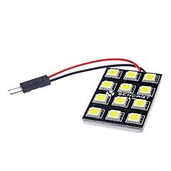 BA9S/Festoon/T10 6W 12x5060SMD 500-520lm LED de luz branca da lâmpada de freio do carro (12V)