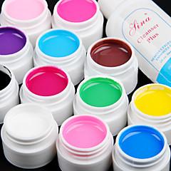 12pcs color puro uv gel y uñas limpiador de secado rápido (12 mm)