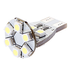 T15 1W 12x3528SMD White Light LED pære til bil Turn Signal / sidemarkeringslygte (DC 12V)