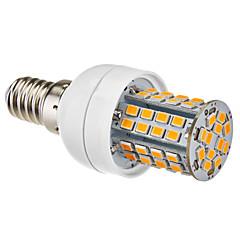 E14 5W 60x2385SMD 450-500LM 2700-3500K Warm White LED Lampadina del cereale (220-240V)