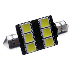 Festoon 36mm 3W 6x5060SMD 220-250LM 6000-6500K White Light LED Car Rekisterikilpi / lukulamppu (12V)