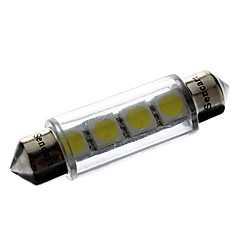 41mm 1W 4x5050SMD 56LM White Light LED Bil Reading / License Plate / indikator lampe (12V)