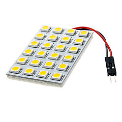 BA9S/Festoon/T10 4W 24x5050SMD 250-270LM Warm White Light Bulb (DC 12V)